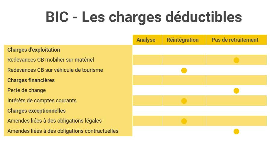 UE4 DCG - BIC charges déductibles